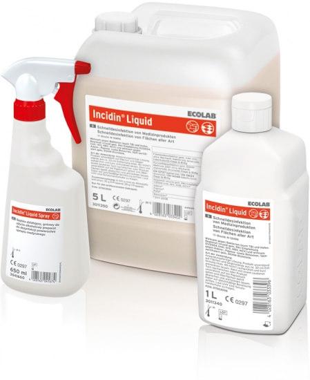 Incidin Liquid Spray - szybka dezynfekcja powierzchni_plaskich