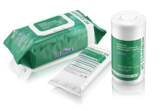 Mediwipes DM - bezalkoholowe chusteczki do dezynfekcji