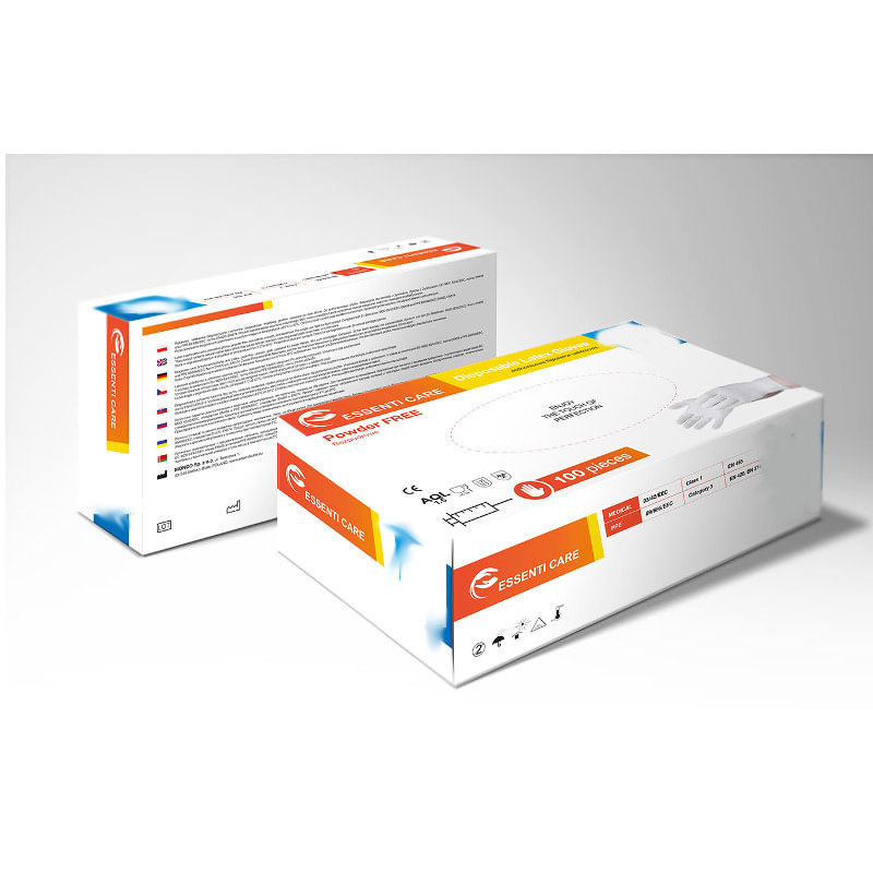 Rekawiczki diagnostyczne lateksowe ESSENTI CARE