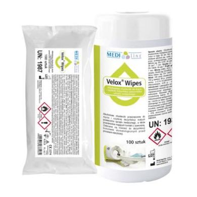 Velox Wipes - chusteczki na bazie alkoholu do dezynfekcji